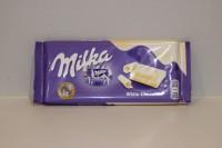 零食類 瑞士 Milka 朱古力 ( White ) 87 g X 1包