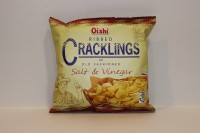 零食類 Oishi Ribbed Cracklings 海鹽味 脆片 50 g X 1 細包