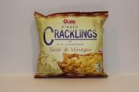 零食類 Oishi Ribbed Cracklings 海鹽味 脆片 50 g X 5 細包