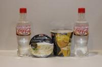 100%日本透明可樂 500ml X 2支 + 金槍魚杯面 X 2杯