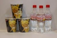 100%日本透明可樂 500ml X 3支 + 金槍魚杯面 X 3杯