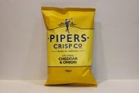 零食類 Pipers 英國手工著片 車打芝士洋蔥味 ( 黃 )